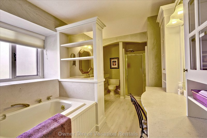 Luxurious Master Ensuite with Soaker Tub and Walk-in Shower