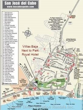 Villas Baja Location Map Located Next to Park Royal Hotel and Mayan Palace Golf Course Club House Quiet Sul-de-Sac Street