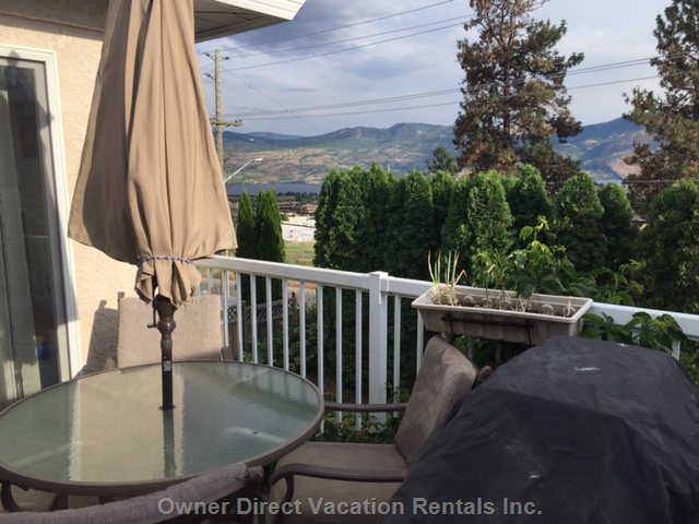 Back Patio with View of Lake Okanagan