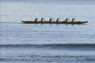 Rowers Seen from the Private Lanai (Balcony)
