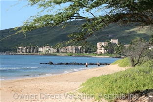 Maui's Longest Beach, Maalaea Beach, Starts at the End of the Cul-de-Sac