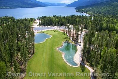 View of Golf Course and Mabel Lake