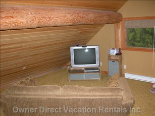 Couch and TV in Loft