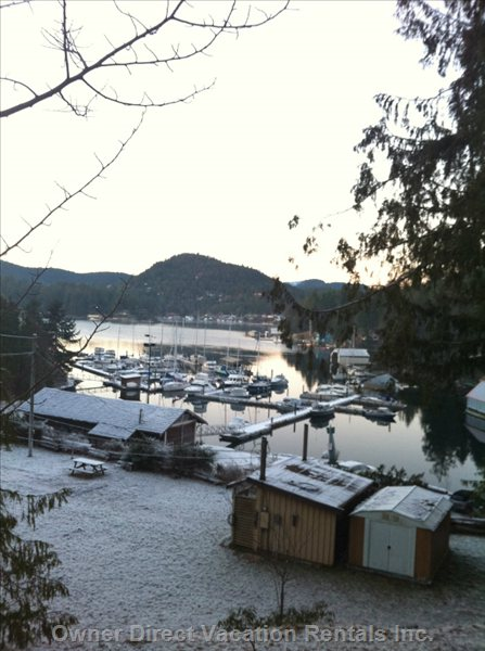 Winter View Towards Headwater Marina - Located behind Home