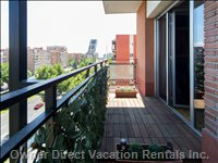 Get some Fresh Air Or Enjoy the Views over Sunny Madrid, you Can See Plaza Castilla from the Apartment.