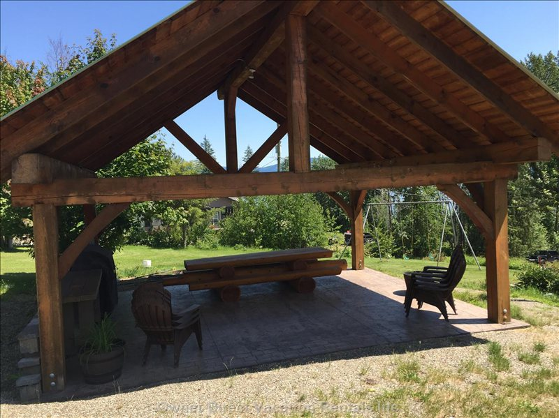 Shared Covered Gazebo with Great Lake Views