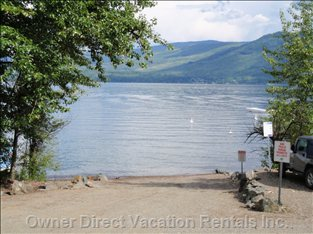 Public Boat Launch - Picnic Area and Washrooms, Large Beach Area in Summer