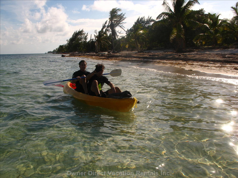 Kayaking at Casa Del Cielo DE Las Estrellas - the Low Wave Action of the Costa Maya Coast Provides Good Sea Kayaking Conditions. we Have Three Kayaks and Life Vests of Various Sizes that Can be Used with no Charge. the Kayaks Are Perfect Vehicles to Get Quickly to the Barrier Reef.