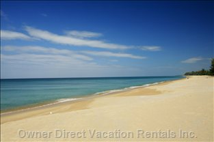 Pristine Mai Khao Beach, Right in Front of your Villa.