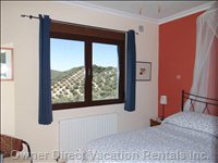 Double Bed with King Size Bed and Views over the Hills and Olive Groves of Andalucia