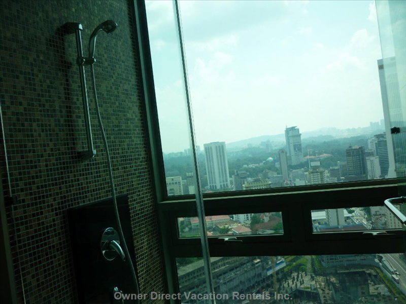 City View from the Bathroom