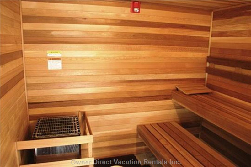 1 of 3 Saunas Shared with the Complex