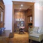 Stunning Woodwork in the Dressing-Room, with Full-Length Closets and Mirrors