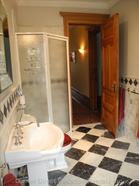 Large Separate Shower Stall in the Main Bathroom