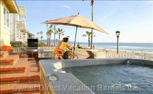 Beachfront Seating, with Ocean Views and a Jacuzzi Tub Ready for you!