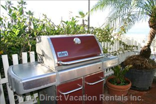 Love to Barbecue with this Quality Weber Model While Gazing at the Ocean.