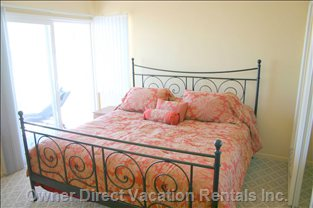 Upstairs, you Will Find the Master Bedroom, with Ocean View Balcony.
