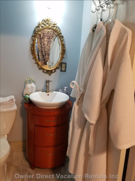 "Half Bathroom with Sink & Toilet in the  Suite.""we Appreciated that Bathrobes Were Provided so that we Didn't Have to Pack them"", Donna"