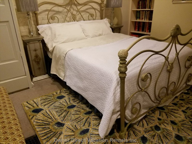 """the Beds Were Comfortable and the Linens Superb"", Heather P. 2017. Queen Bed in the Main Apartment."