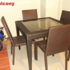 Private Balcony Chairs and Table