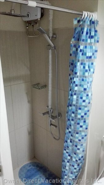 Shower with Water Heater.