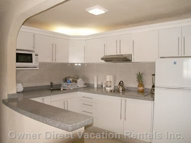 Gourmet Kitchen with Corian Countertops and Barra