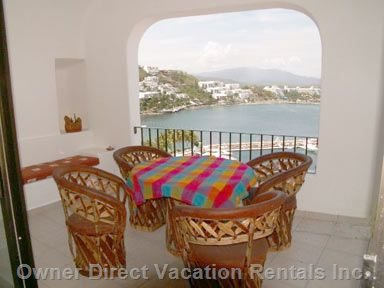 Shaded Patio with Incredible View of Manzanillo Bay