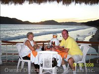 Dinning out at one of the Great Restaurants on Santiago Bay.