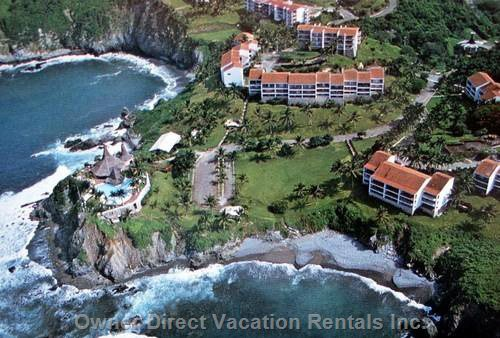 View of the Vida Del Mar Complex from the Air.