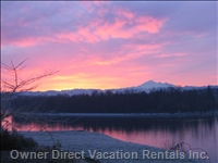 Pink Sunrise over Fraser River