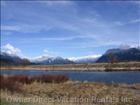 Dikes, Golden Ears Mountain Panorama with Alouette River