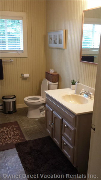 One of Two Bathrooms Complete with Walk-in Shower