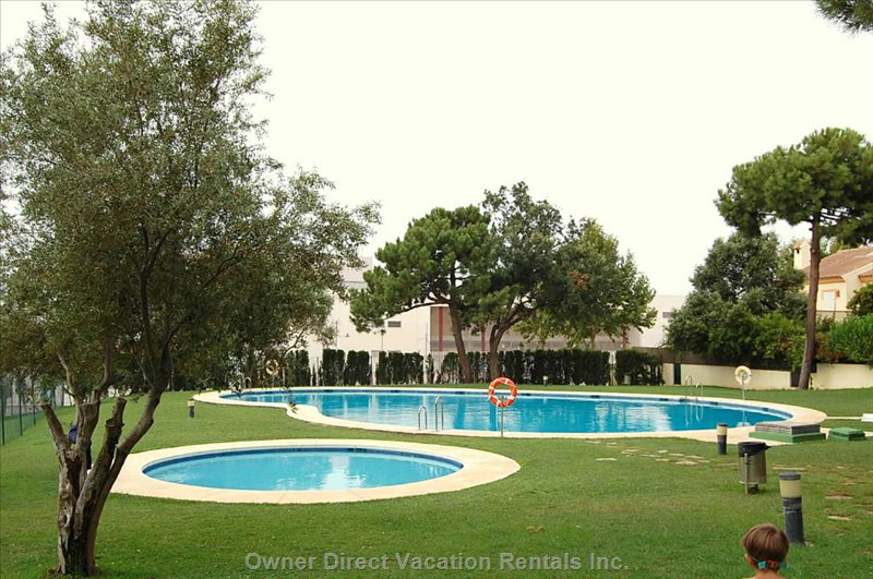 Gated Private Community Pools Clean all Year Round with Dressing Rooms and Showers.