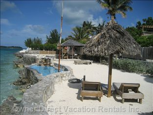 Private Beach and Seaside, Saltwater Sunpool on the Sea of Abaco