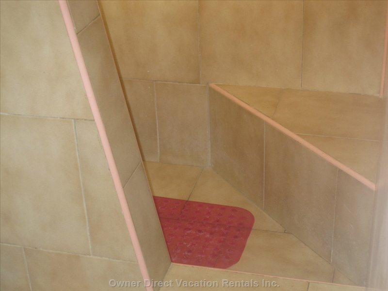 Ceramic Shower Stall with Hot Water!
