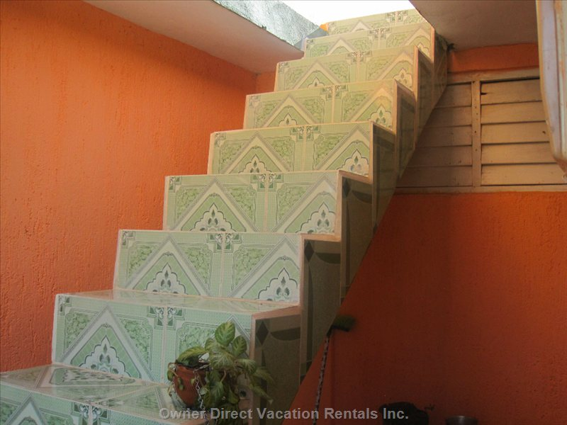 Stairs to 2nd Floor Patio-