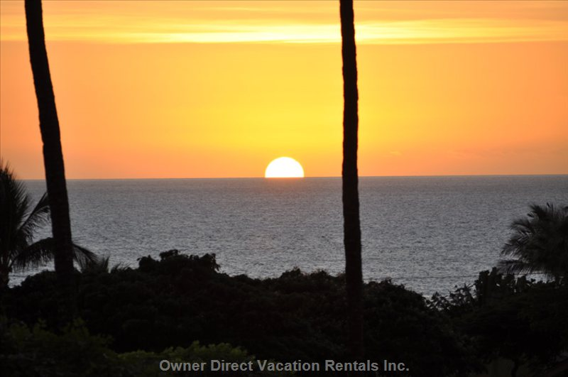 Watch the Sunset from the Comfort of the Lanai.
