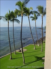 From the Lanai, View to the Right - Boats Coming and Going from MA'Alaea Harbour