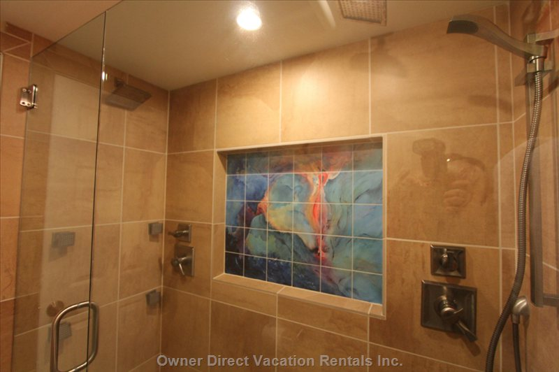 Our Beautiful Double Shower with Massage, Rain Head, Regular Head and Hand Held.