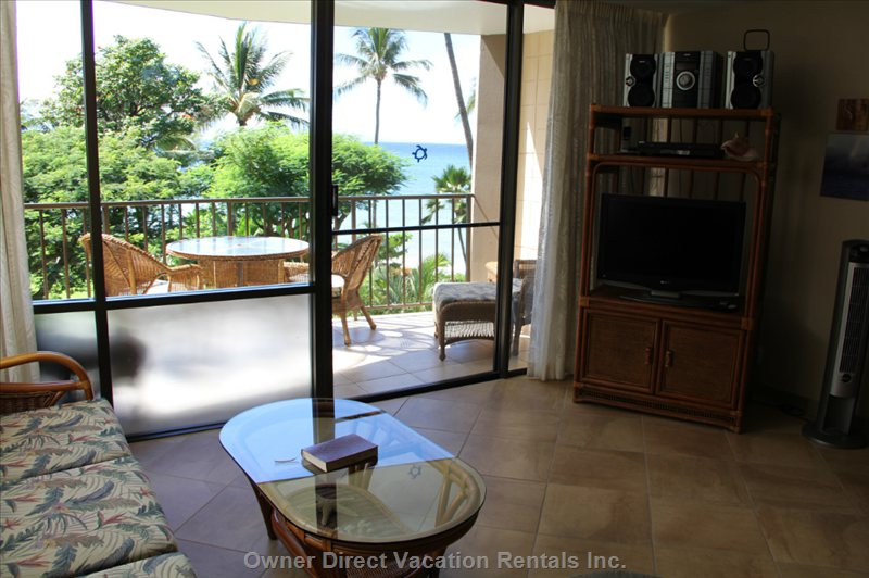 View from Living Room to Lanai and Ocean