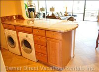 Washer and Dryer in Condo for your Convenience
