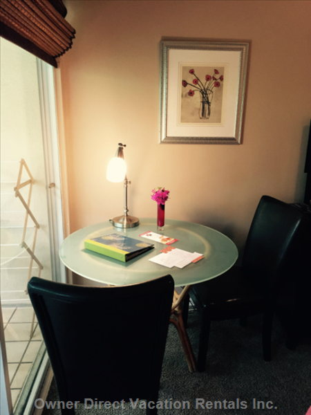 Breakfast Nook with Reading Lamp