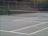 Tennis Court W/Rackets and Balls Included