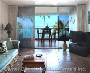 Living Room with Great Oceanfront View