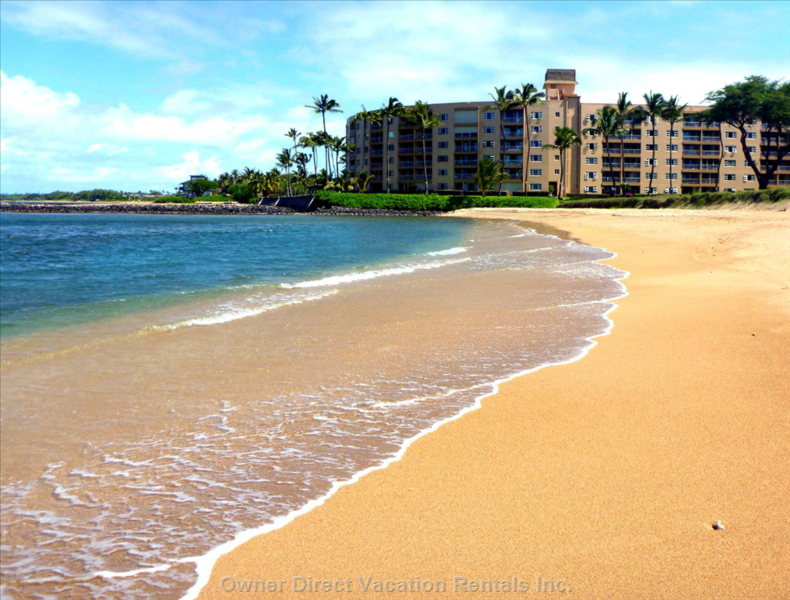 Menehune Shores Building from Beach.
