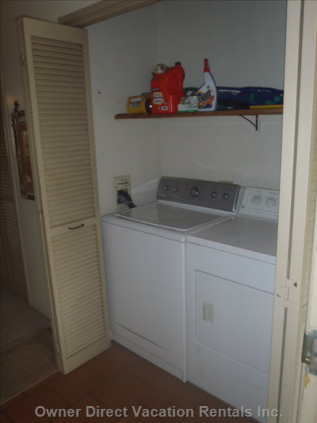 Full Size Washer & Dryer in Unit.