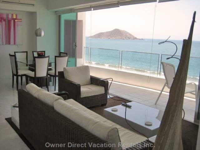 View through the Living Room to the Beach