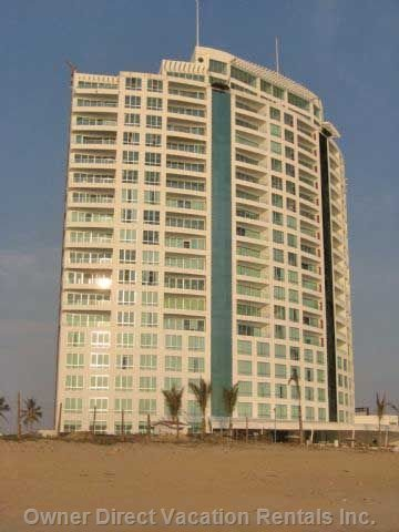 Crowne Plaza from the Beach