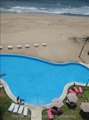 View of Pool from the Room