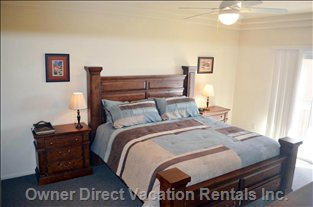 "Master Bedroom, King-Sized Bed, 22"" Lcd TV, Private Bathroom, Balcony; Mtn. View"